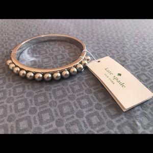 Jewelry - Kate Spade Pearl Silver Bangle